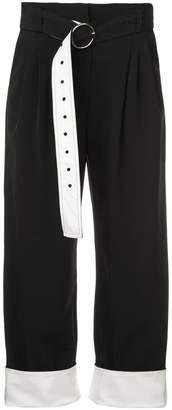 Yigal Azrouel high-waisted straight leg trousers