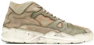 distressed effect sneakers