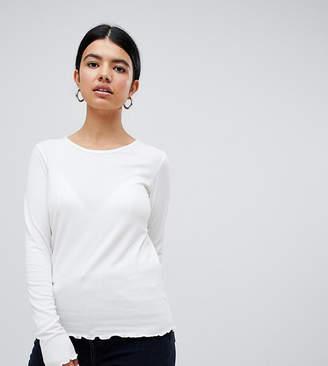 194b87ea6b0 Pimkie frill edge long sleeve top in white