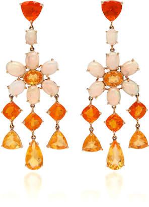 Nina Runsdorf M'O Exclusive: One-Of-A-Kind Mixed Shape Mexican Fire Opal Earrings