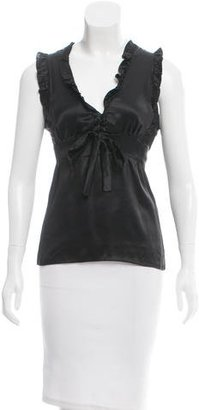 Sandro Sleeveless Ruffle-Accented Top $65 thestylecure.com