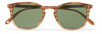 Garrett Leight California Optical Kinney 49 Square-Frame Tortoiseshell Acetate Sunglasses