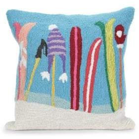 Liora Manné Frontporch Gone Skiing Indoor and Outdoor Square Pillow