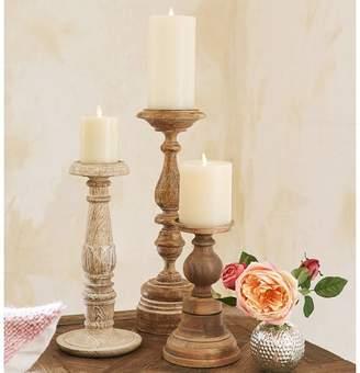 Pottery Barn Carved Pillar Holder