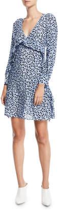 No.21 No. 21 Star-Print Ruffle Silk Short Dress