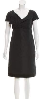 RED Valentino Surplice Neckline Knee-Length Dress
