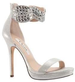 Nina Fayth Metallic Suede Dress Sandals