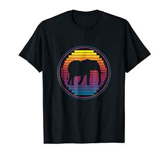 70s Retro Elephants T-Shirt Love Elephant 1970s Colors Shirt