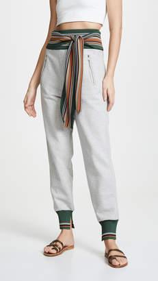 3.1 Phillip Lim Multi Stripe Rib Sweatpants