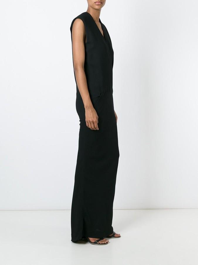 Haider Ackermann v-neck evening dress