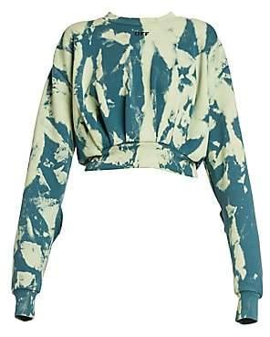 Off-White Women's Tie-Dye Extra Crop Sweatshirt