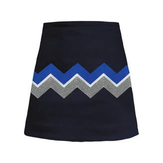 My Pair of Jeans - Chevron Embroidered Miniskirt