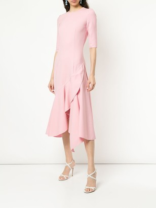 Oscar de la Renta asymmetric double-face dress
