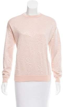Stella McCartney Textured Crew Neck Sweatshirt