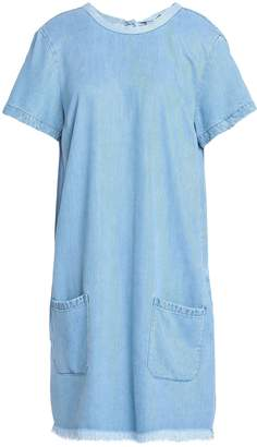 7 For All Mankind Frayed Woven Mini Dress