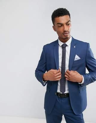 Burton Menswear Slim Suit Jacket In Blue