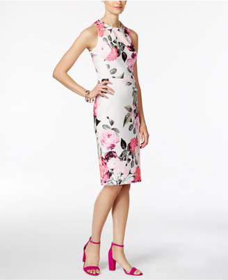 INC International Concepts Floral-Print Sheath Dress, Only at Macy's $129.50 thestylecure.com