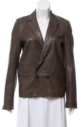 Giada Forte Double-Breasted Leather Blazer w/ Tags