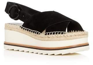 Marc Fisher Women's Glenna Suede Slingback Espadrille Platform Sandals