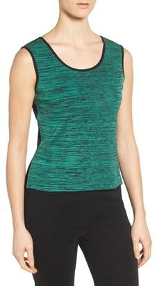 Women's Ming Wang Reversible Scoop Neck Knit Tank $130 thestylecure.com