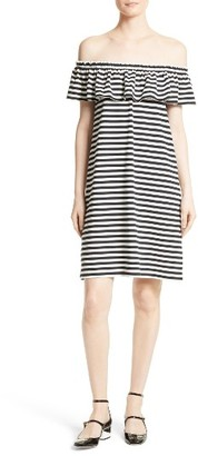Women's Kate Spade New York Stripe Knit Off The Shoulder Dress $168 thestylecure.com