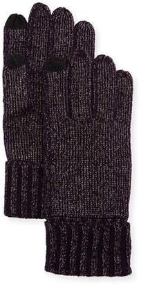 Sofia Cashmere Lurex® Knit Touch-Screen Gloves