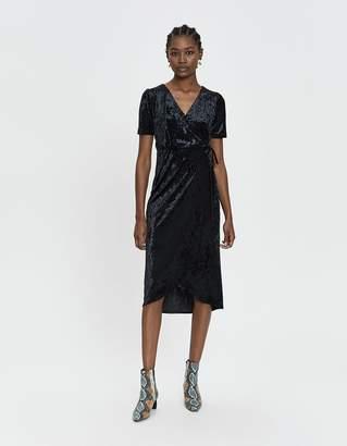 Farrow Bethany Velvet Wrap Dress