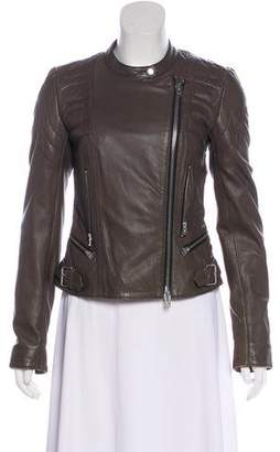 Closed Leather Zip-Up Jacket