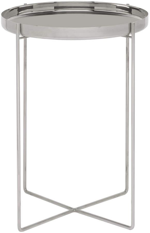 e15 - CM05 Habibi Beistelltisch H 47 Ø 37 cm, Edelstahl poliert