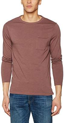 New Look Men's Basic Slub Long Sleeve Top