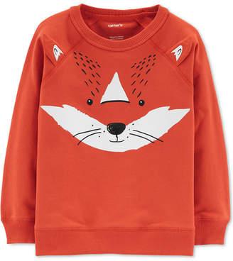 Carter's Baby Boys Fox-Print Cotton Sweatshirt