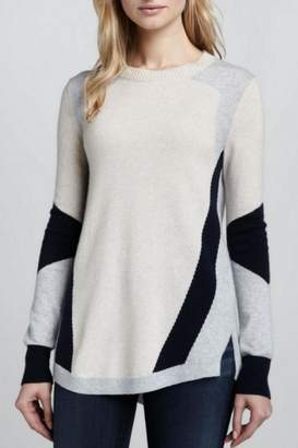 Rebecca Taylor Colorblocked Intarsia Sweater
