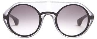 Blake Kuwahara - Gropius Round Frame Sunglasses - Mens - Black