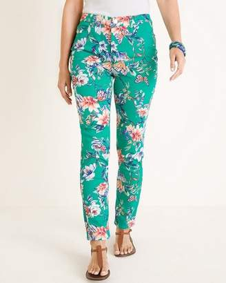 So Slimming Butterfly Garden-Print Ankle Jeans