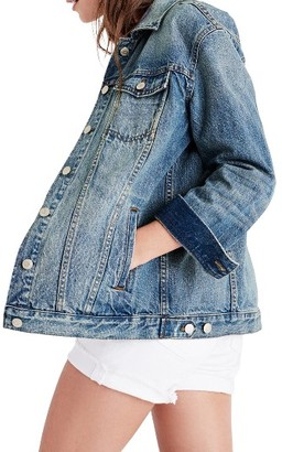 Women's Madewell Oversize Denim Jacket $128 thestylecure.com