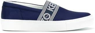 Kenzo logo stripe slip-on sneakers