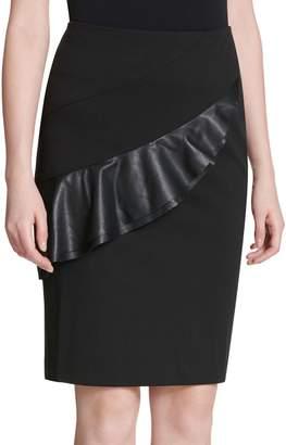 Calvin Klein Collection Flounced Pencil Skirt