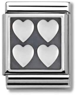 Nomination 332204/01 Big Composable Symbols (Heart with Love) Engraved Stainless Steel Women's Bracelet 1.20cm ZWk9xTbqUX