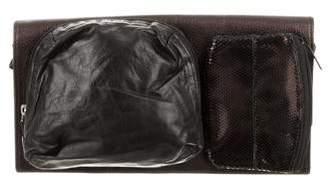Maison Margiela Metallic Leather Flap Clutch