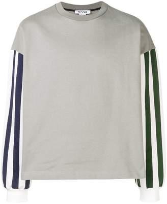 Sunnei stripe detailed sweatshirt