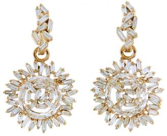 Suzanne Kalan Vitrine Diamond and Topaz Circle Earrings - Rose Gold