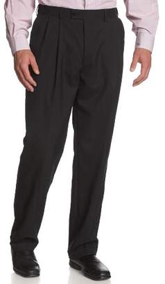Louis Raphael Men's Big-Tall Luxe 100% Wool Extension Dress Pant