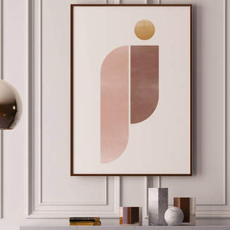 JO HILL - ART PRINTS Pink And Gold '10' Abstract Geometric Art Print