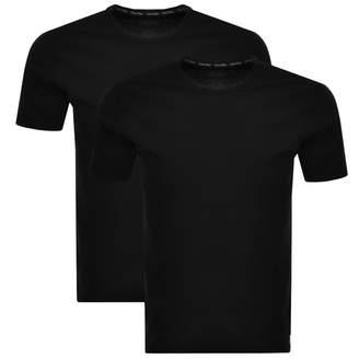 Calvin Klein 2 Pack Crew Neck T Shirts Black