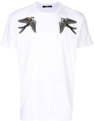 Karl Lagerfeld Captain bird patch T-shirt