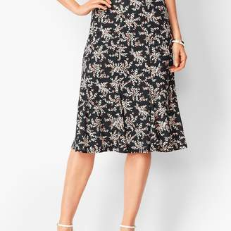 Talbots Floral Jersey Midi Skirt