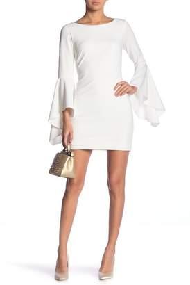 Jay Godfrey JAY X JAYGODFREY Pedoe Bell Sleeve Midi Dress