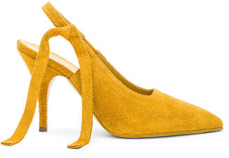 Victoria Beckham Suede Dorothy Sling Back Pumps in Yellow | FWRD