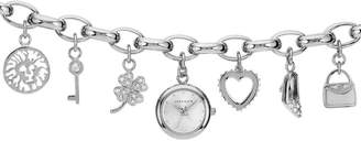 Anne Klein Women's Silvertone Charm Watch