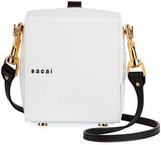Sacai Shoes Two-Tone Box Shoulder Bag